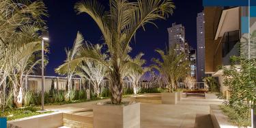 Praças dentro dos edifícios ajudam a enfrentar o distanciamento social